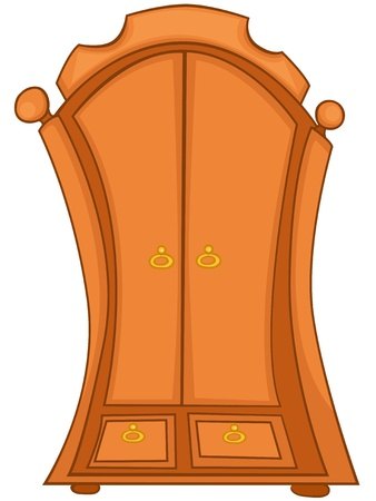 Cartoon Home Furniture Wardrobe Stock Vector - 12372171
