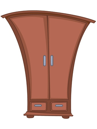 Cartoon Home Furniture Wardrobe Vector