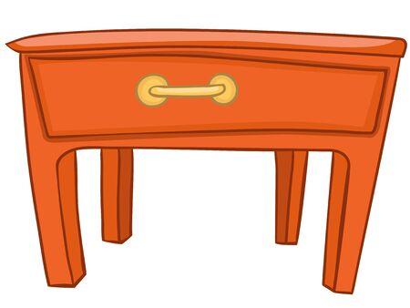 Inicio de Cartoon Muebles Tabla Foto de archivo - 12372155