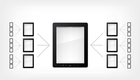 electronic book: Set of Tablet PC Illustration