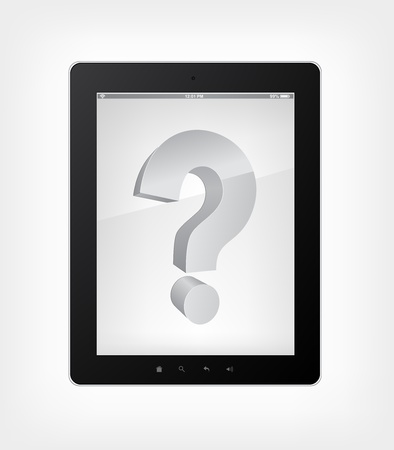 Tablet PC Question Concept Stock Vector - 12372183