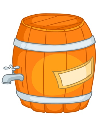 Cartoon Home Kitchen Barrel