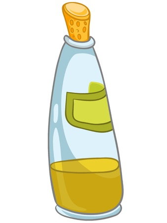 Cartoon Home Kitchen Bottle Illustration