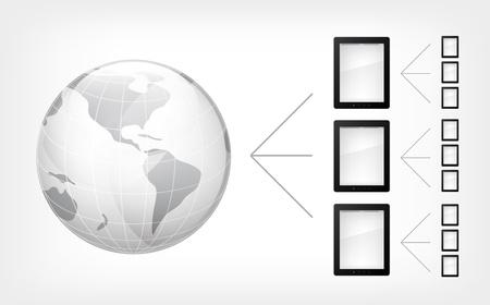 comunication: Comunication Concept. Tablet PC Illustration