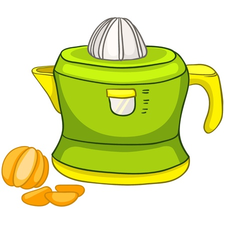 appliance: Cartoon Home Kitchen Juicer Illustration