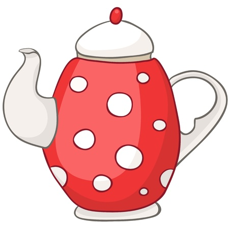 Cartoon Home Kitchen Kettle Vector