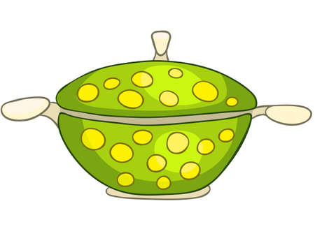 stove: Cartoon Home Kitchen Pot Illustration
