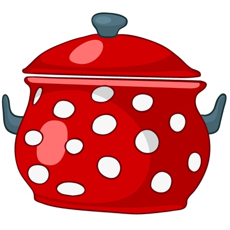 stoves: Cartoon Home Kitchen Pot Illustration