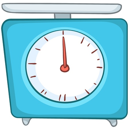 Cartoon Home Kitchen Scales Vector