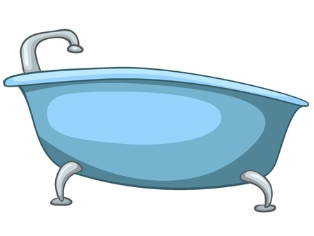Cartoon Home Washroom Tub Illustration
