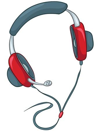 Cartoons Home Appliences Headphone Vector
