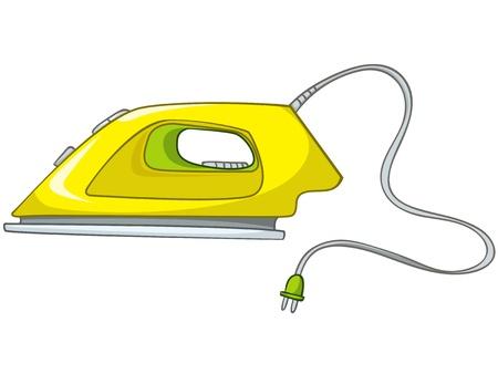 plancha de vapor: Dibujos animados Inicio appliences Plancha Vectores