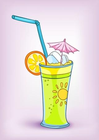 Cartoon alimentare Cocktail Drink Archivio Fotografico - 12491818