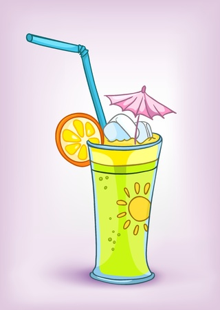 Cartoon Food Drink Cocktail Ilustrace