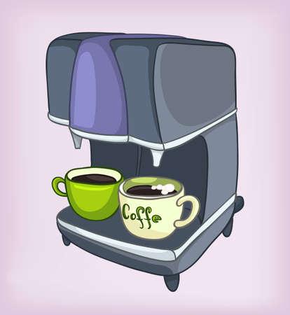 Cartoons Home Appliences Coffee Maker Vettoriali