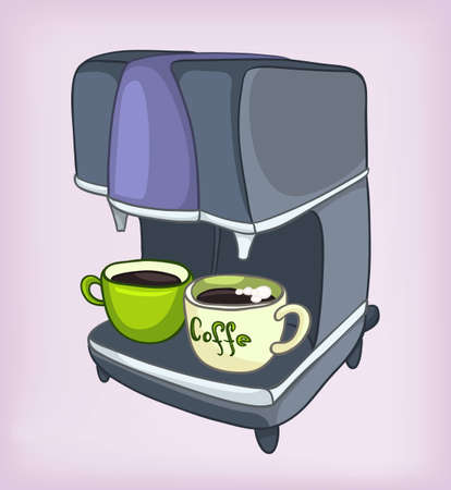 Cartoons Home Appliences Coffee Maker Vector