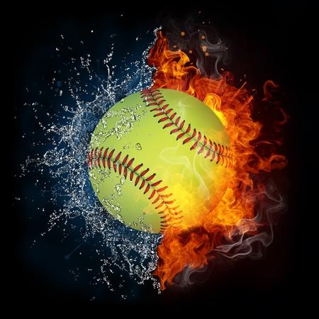 softbol: Bola de b�isbol