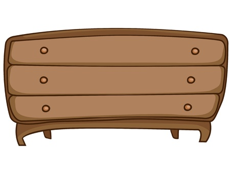 Cartoon Home Furniture Chest of Drawers Vector