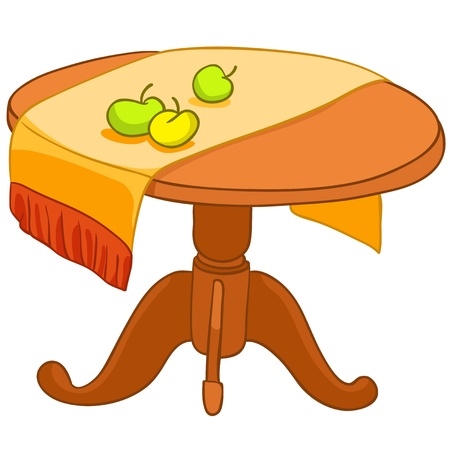 Cartoon Home Meubels Tafel Stock Illustratie