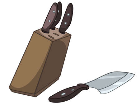 Cartoon Home Kitchen Knife Set Stock fotó