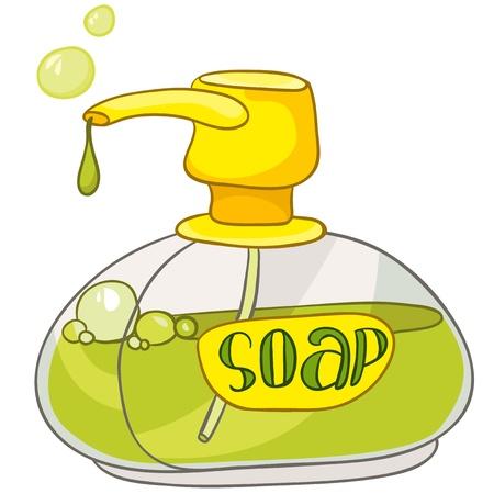 Cartoon Home Washroom Soap Vector