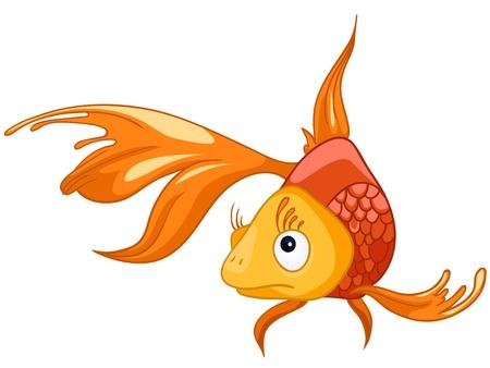 white: Cartoon Character Fish
