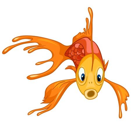 carita feliz caricatura: Personaje de dibujos animados de pescado