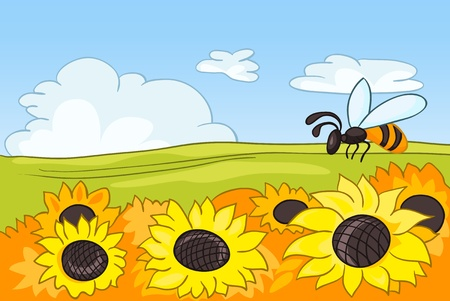 Cartoon Nature Landscape Vector