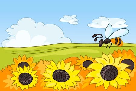 Cartoon Natur Landschaft