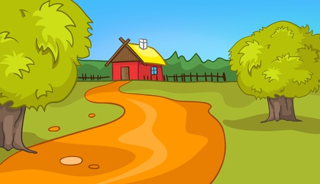 Cartoon Natur Landschaft Standard-Bild - 12996689