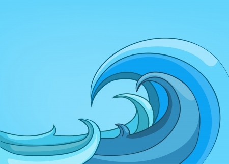 wave: Cartoon Nature Landscape Sea