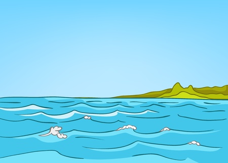Cartoon Nature Landscape Sea