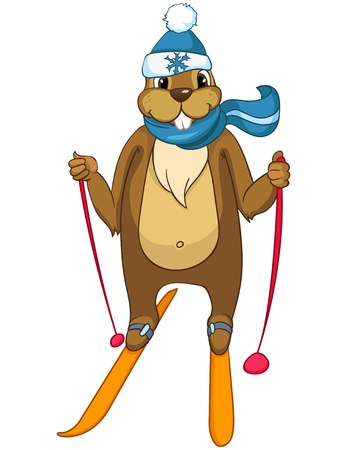 downhill skiing: Beaver CREES Illustration