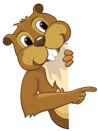 castor: Beaver CREES Vectores