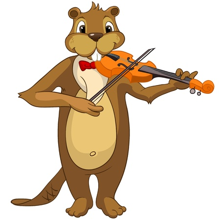 fiddles: Beaver CREES Illustration