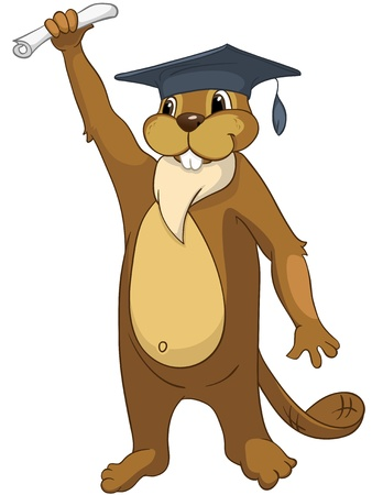 achievement clip art: Beaver CREES Illustration