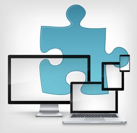 personal data assistant: Puzzle Concept