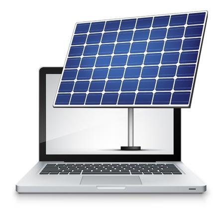 energy work: Vector Laptop  Illustration