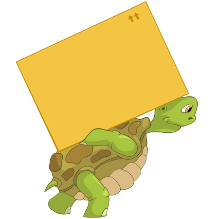Funny Turtle  Delivery  Stock Vector - 13533837