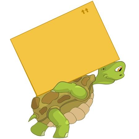 tortue de terre: Livraison Dr�le de tortue Illustration