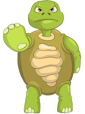 Funny Turtle  Stop Stock Vector - 13533841