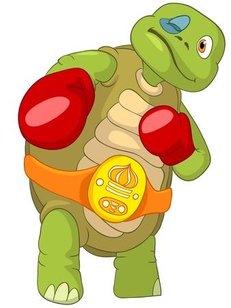 personalit�: Turtle Boxer Divertente Vettoriali