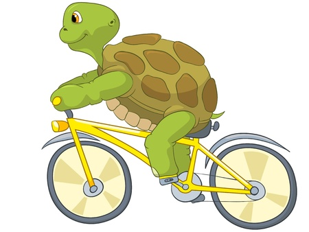 cycling: Funny Turtle  Biker  Illustration