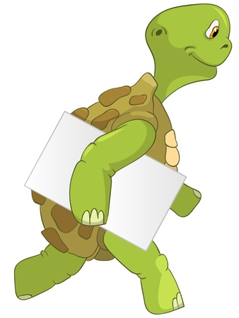 Funny Turtle  Courier Stock Vector - 13533792