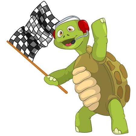 Funny Turtle  Race Finish