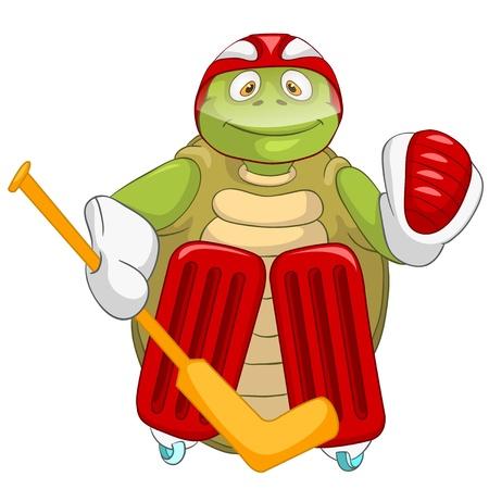 Funny Turtle  Hockey Goalie