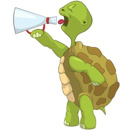 tortuga caricatura: Tortuga divertida Screaming