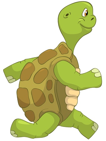 Funny Turtle  Running  Stock Vector - 13533788