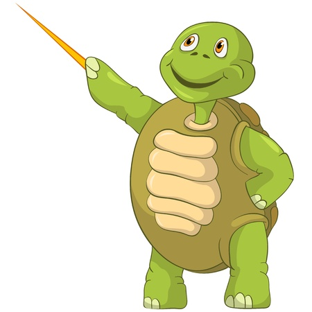 Funny Turtle  Showing  Stock Vector - 13533844