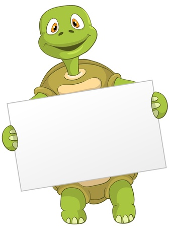 Funny Turtle Illustration